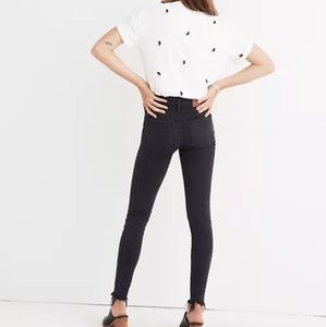 Madewell black mid-rise skinny jeans size 27